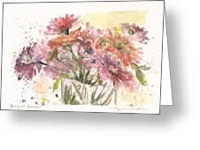 Bouquet Zinnias Greeting Card