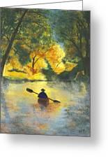 Bourbeuse River Sunrise Greeting Card