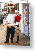 Bourbon Street In Daylight - Santa's Helper Greeting Card