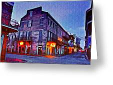 Bourbon Street In The Quiet Hours Greeting Card