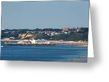 Bournemouth Pier In Dorset Greeting Card