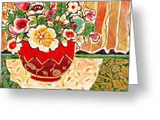 Bowl And Blossoms Greeting Card