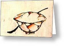 Bowl And Spoon 1840 Greeting Card