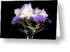 Bowl Of Iris Greeting Card