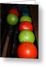Bowling Balls Greeting Card