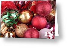 Box Of Christmas Decorations  Greeting Card