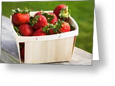 Box Of Strawberries Greeting Card