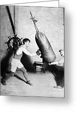 Boxing: Bat Nelson, 1920 Greeting Card