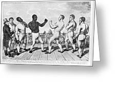 Boxing: Cribb V. Molineaux Greeting Card