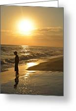 Boy And The Sea Greeting Card