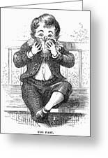Boy Eating Greeting Card