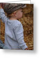 Boy In Cool Hat Greeting Card
