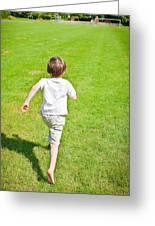 Boy Running Greeting Card
