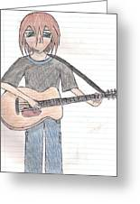 Boy With Guitar Greeting Card