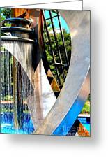 Boyd Plaza Fountain II Greeting Card