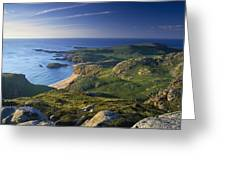 Boyeeghter Strand And Melmore Head Greeting Card