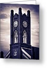 Boyertown Clock Tower Greeting Card