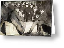 Boys Playing Poker, 1909 Greeting Card