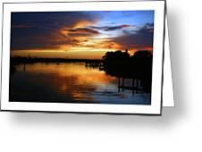 Braden River Sunset Greeting Card