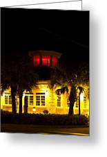 Bradenton Lighthouse Red Greeting Card