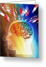 Brain Drug Greeting Card by Pasieka