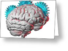 Brain Function, Conceptual Artwork Greeting Card