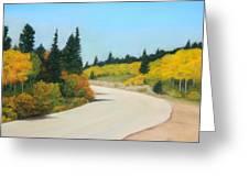 Brainard Lake Road Greeting Card