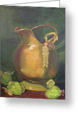 Brass And Tomatillos Greeting Card by Lilibeth Andre