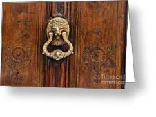 Brass Door Knocker Greeting Card