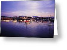 Bray Harbour, Co Wicklow, Ireland Greeting Card