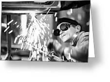 Brazil: Welder, 1961 Greeting Card