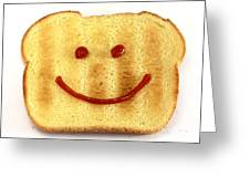 Bread With Happy Face Greeting Card