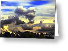 Break In The Clouds Greeting Card