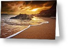 Breakthrough At Leas Foot Greeting Card by Mark Leader