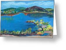 Breakwater On The Great Sacandaga  Greeting Card