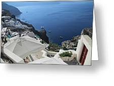 Breathtaking Santorini Greeting Card