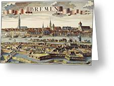 Bremen, Germany, 1719 Greeting Card