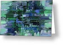 Brick And Blue Greeting Card