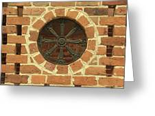 Brick And Iron Greeting Card