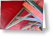 Brick And Wood Truss Greeting Card