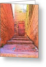 Old Stairs - Bisbee Az Greeting Card