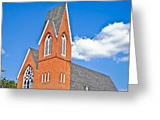 Brick Steeple Greeting Card