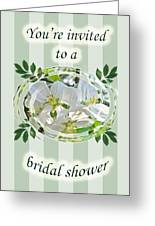 Bridal Shower Invitation - Apple Blossoms Greeting Card