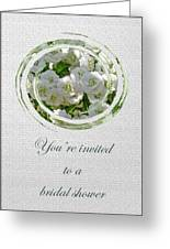 Bridal Shower Invitation - White Spirea Greeting Card