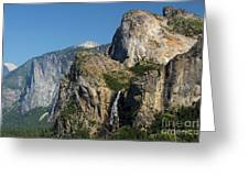 Bridal Veil In The Distance Greeting Card