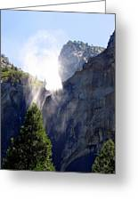 Bridalveil Falls In Yosemite Greeting Card