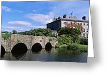 Bridge Across A Lake, Westport House Greeting Card