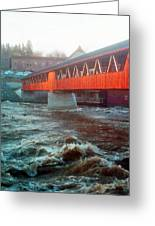 Bridge Across The Ammonoosuc River Greeting Card
