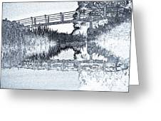 Bridge Across The River Greeting Card