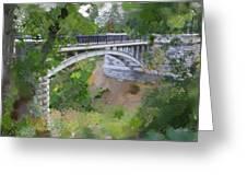 Bridge At Lake Park Greeting Card